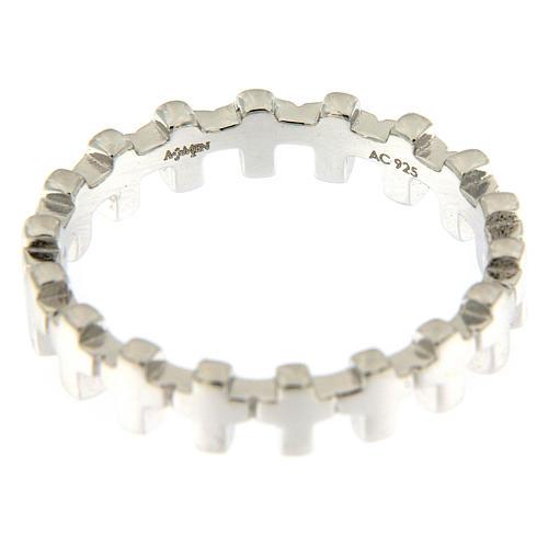 Anello croci AMEN argento 925 3