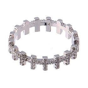 Anello AMEN croci e zirconi bianchi argento 925 s2