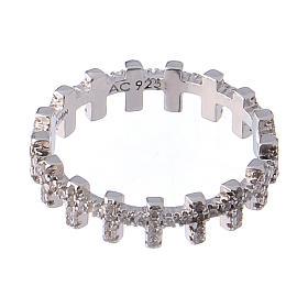 Anello AMEN croci e zirconi bianchi argento 925 s3