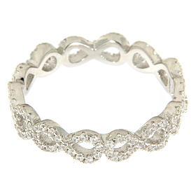 Anillo AMEN infinito y zircones blancos plata 925 s2