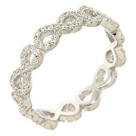 Anello AMEN infinito e zirconi bianchi argento 925 s1