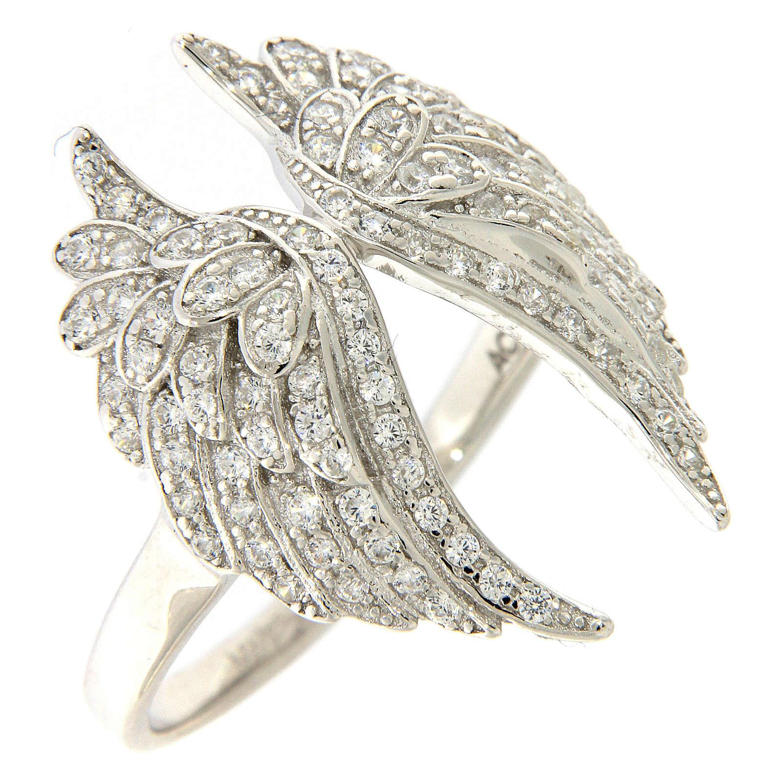 Anello ali AMEN argento 925 con zirconi 3