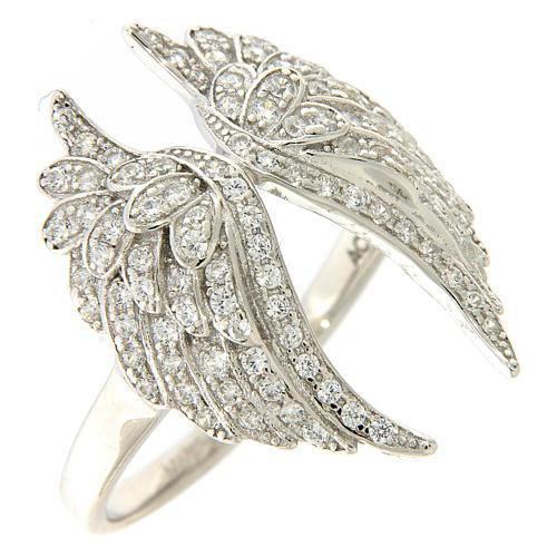 Anello ali AMEN argento 925 con zirconi 1
