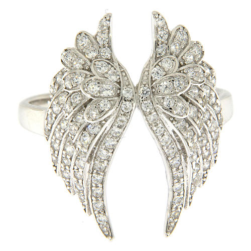 Anello ali AMEN argento 925 con zirconi 2