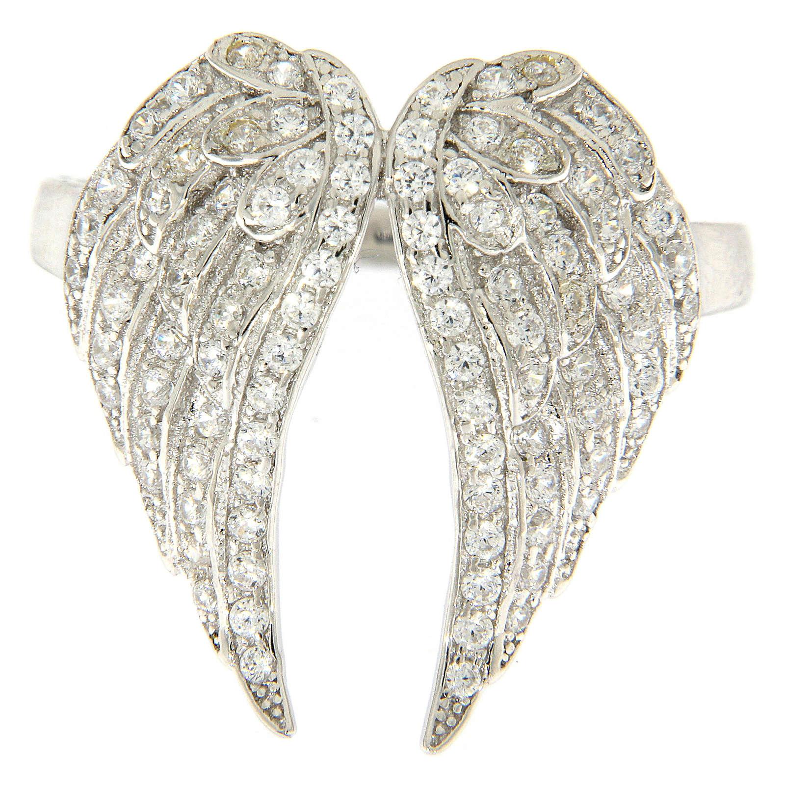 Anillo AMEN alas y zircones plata 925 3
