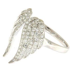 Anello AMEN ali e zirconi argento 925 s3