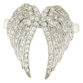 AMEN ring wings and zircons 925 silver s2