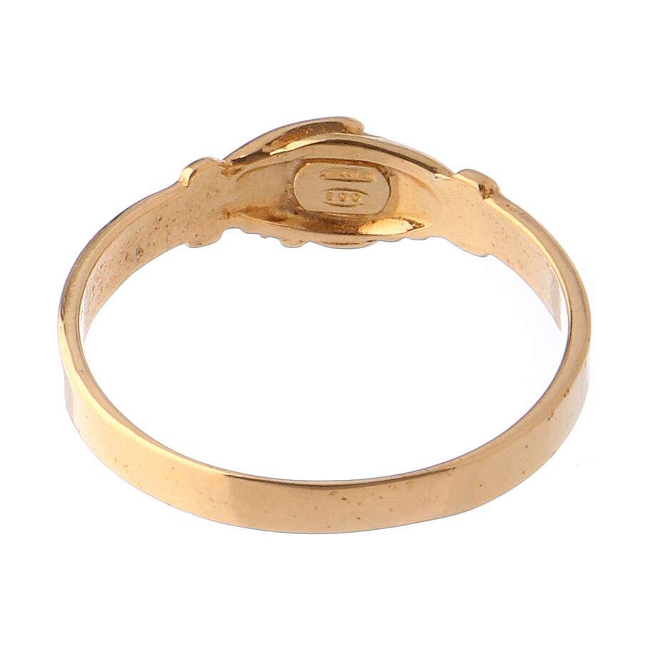 Ring Heilige Rita vergoldeten Silber 800 3