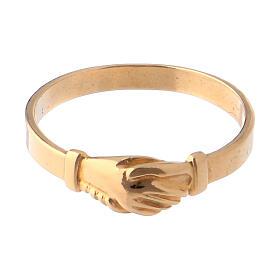 Anel Santa Rita prata 800 cor ouro s2