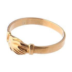 Anel Santa Rita prata 800 cor ouro s3