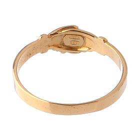 Anel Santa Rita prata 800 cor ouro s4