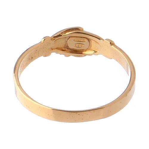 Anel Santa Rita prata 800 cor ouro 4