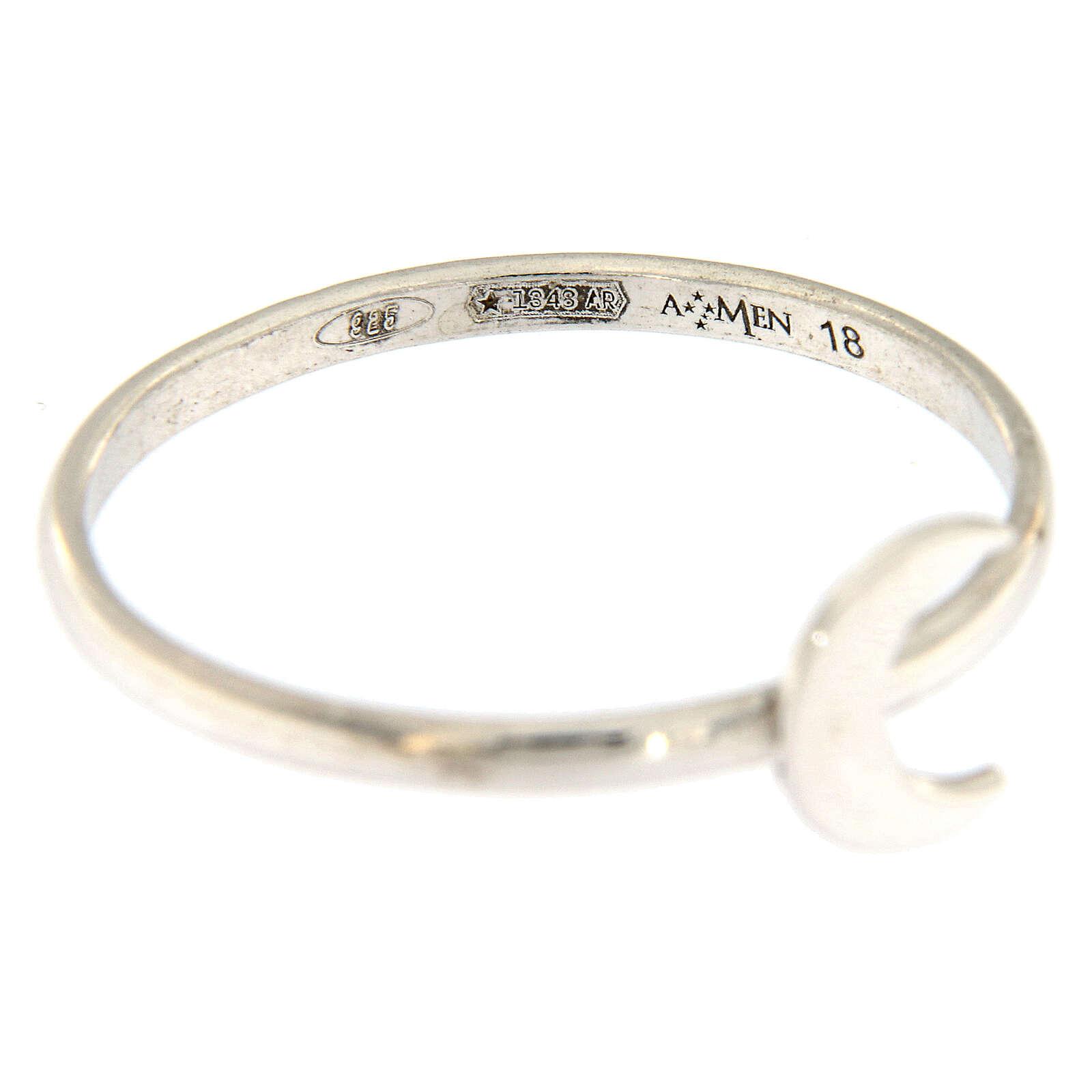 Ring AMEN Silber 925 Halbmond 3