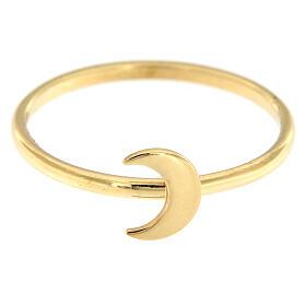 Ring AMEN vergoldeten Silber 925 Halbmond s2