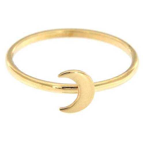Anello AMEN luna argento dorato 2