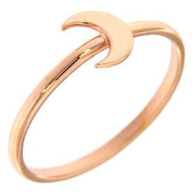 Ring AMEN rosa Silber 925 Halbmond s1