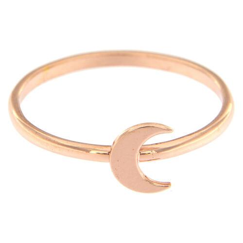 Ring AMEN rosa Silber 925 Halbmond 2