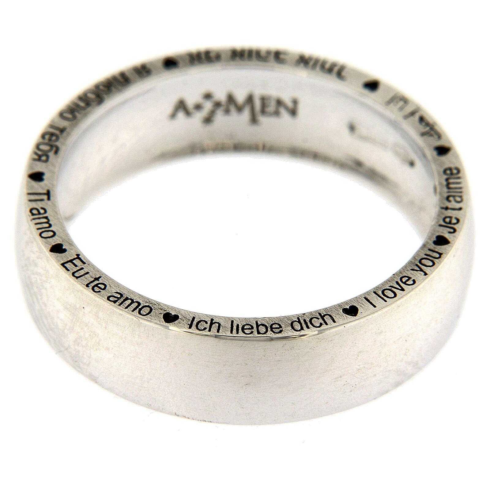 Anello Ti amo AMEN argento 925 3