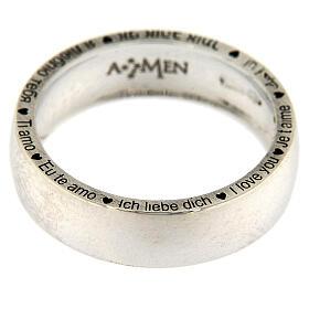 Anello Ti amo AMEN argento 925 s2