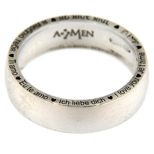 Anello Ti amo AMEN argento 925 2