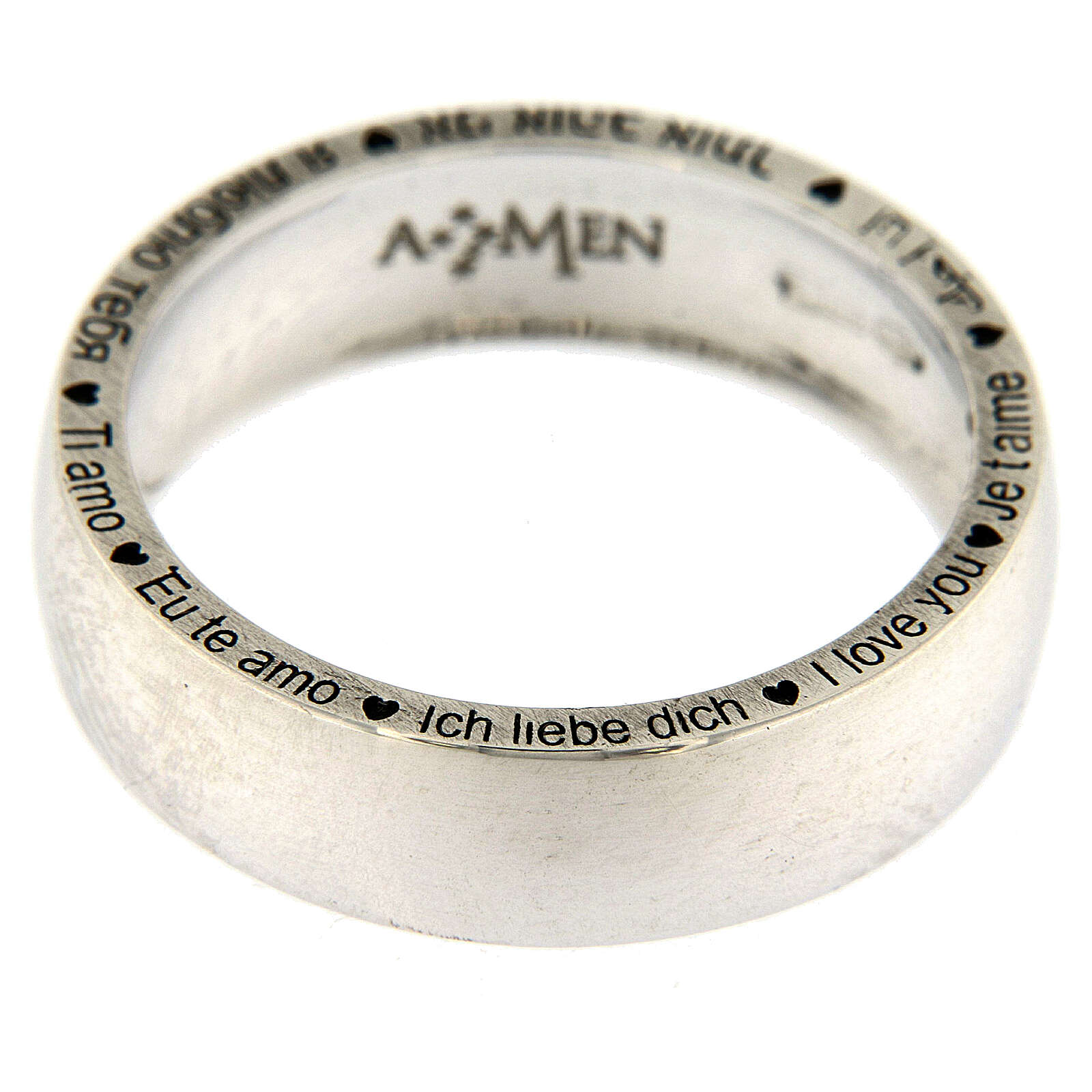 I love you ring AMEN 925 silver 3