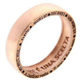 Anel O Amor é uma escolha prata rosé AMEN s1