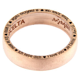 Anel O Amor é uma escolha prata rosé AMEN s3