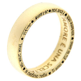AMEN ring I love you gold plated 925 silver s3