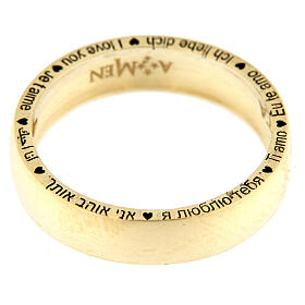 AMEN ring I love you gold plated 925 silver s4