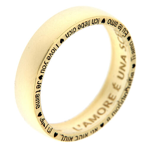 AMEN ring I love you gold plated 925 silver 1