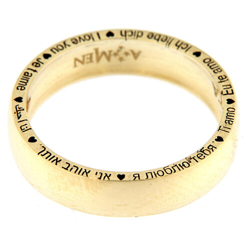 AMEN ring I love you gold plated 925 silver 4