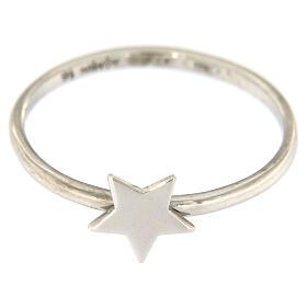 Ring AMEN rodinierten Silber 925 Sternchen s2