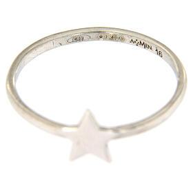 Ring AMEN rodinierten Silber 925 Sternchen s3