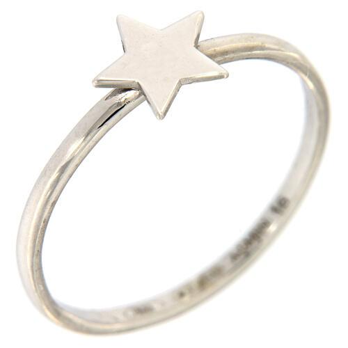 Ring AMEN rodinierten Silber 925 Sternchen 1