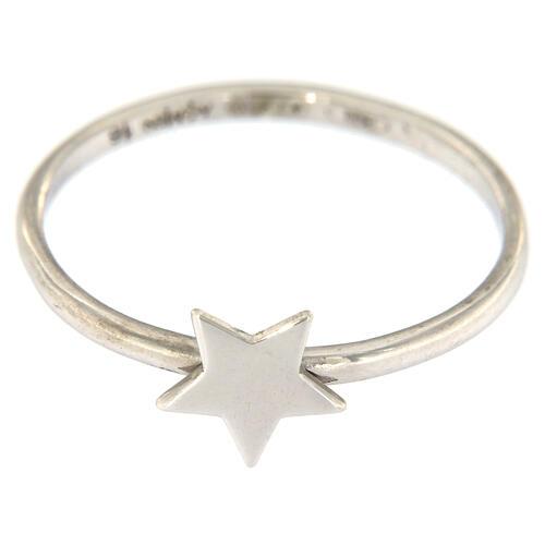Ring AMEN rodinierten Silber 925 Sternchen 2