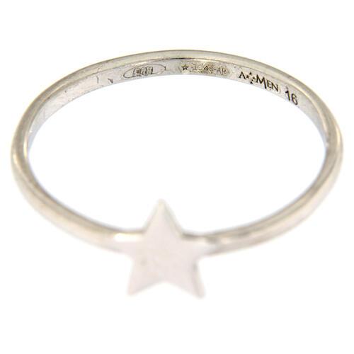 Ring AMEN rodinierten Silber 925 Sternchen 3