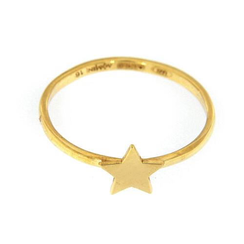 Anello stella argento dorè AMEN 2