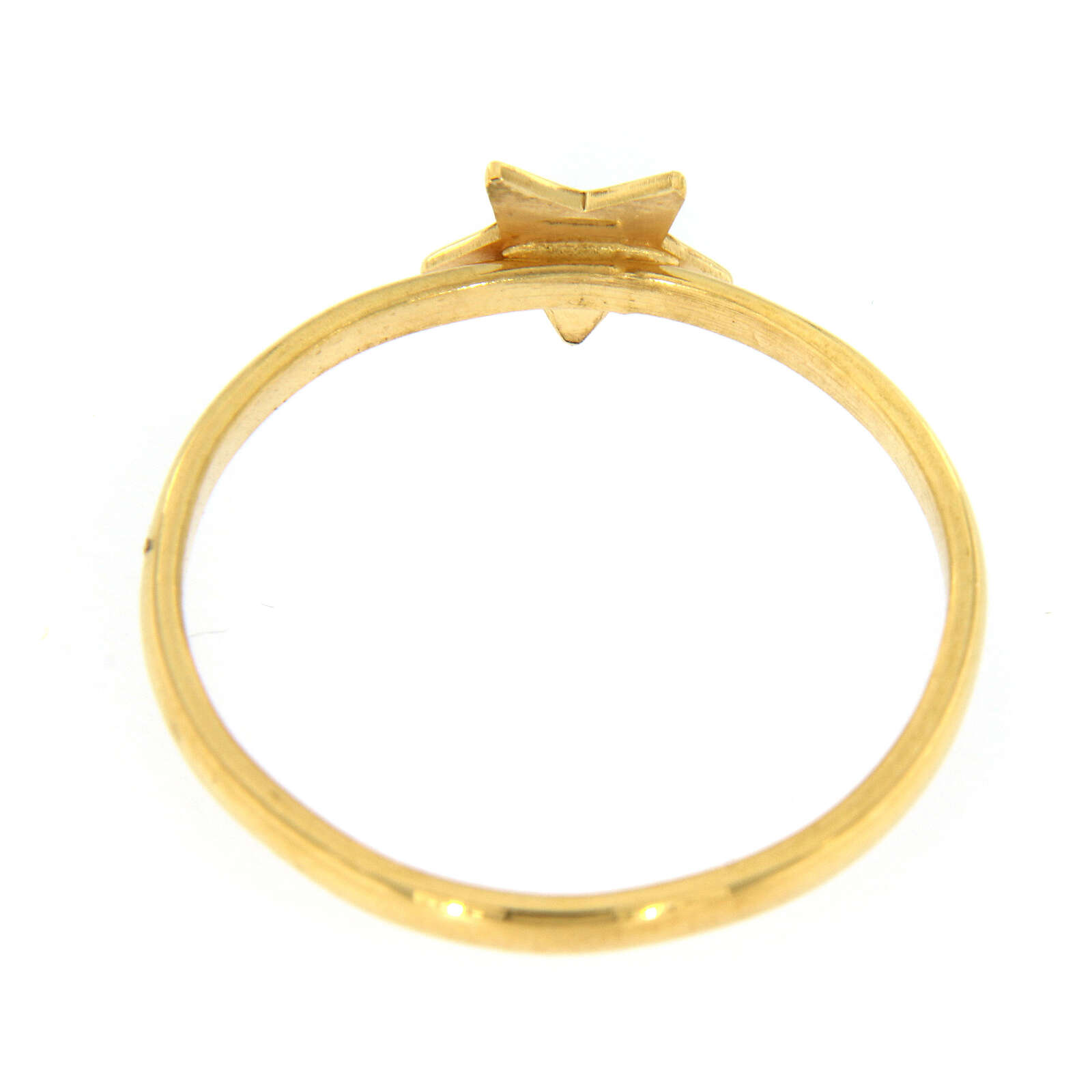 AMEN ring star of 925 gold plated silver 3