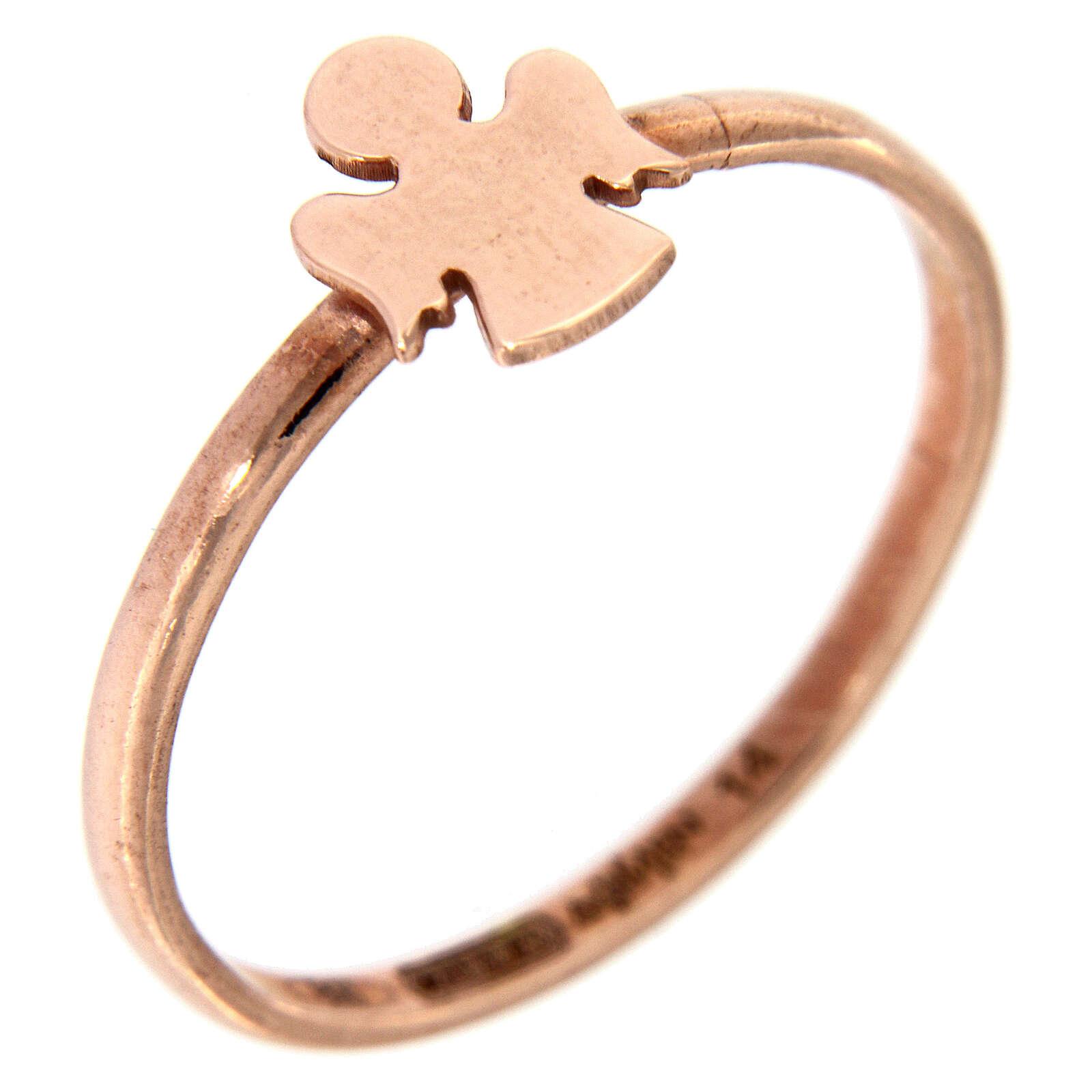 Ring AMEN rosa Silber 925 Engelchen 3