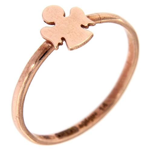 Ring AMEN rosa Silber 925 Engelchen 1