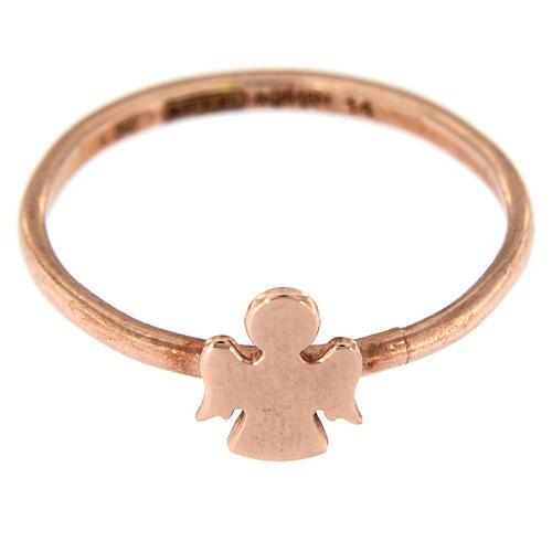 Ring AMEN rosa Silber 925 Engelchen 2