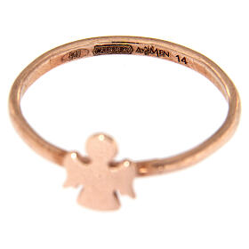 AMEN ring with Angel in pink 925 silver s3