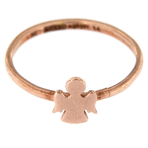 AMEN ring with Angel in pink 925 silver 2