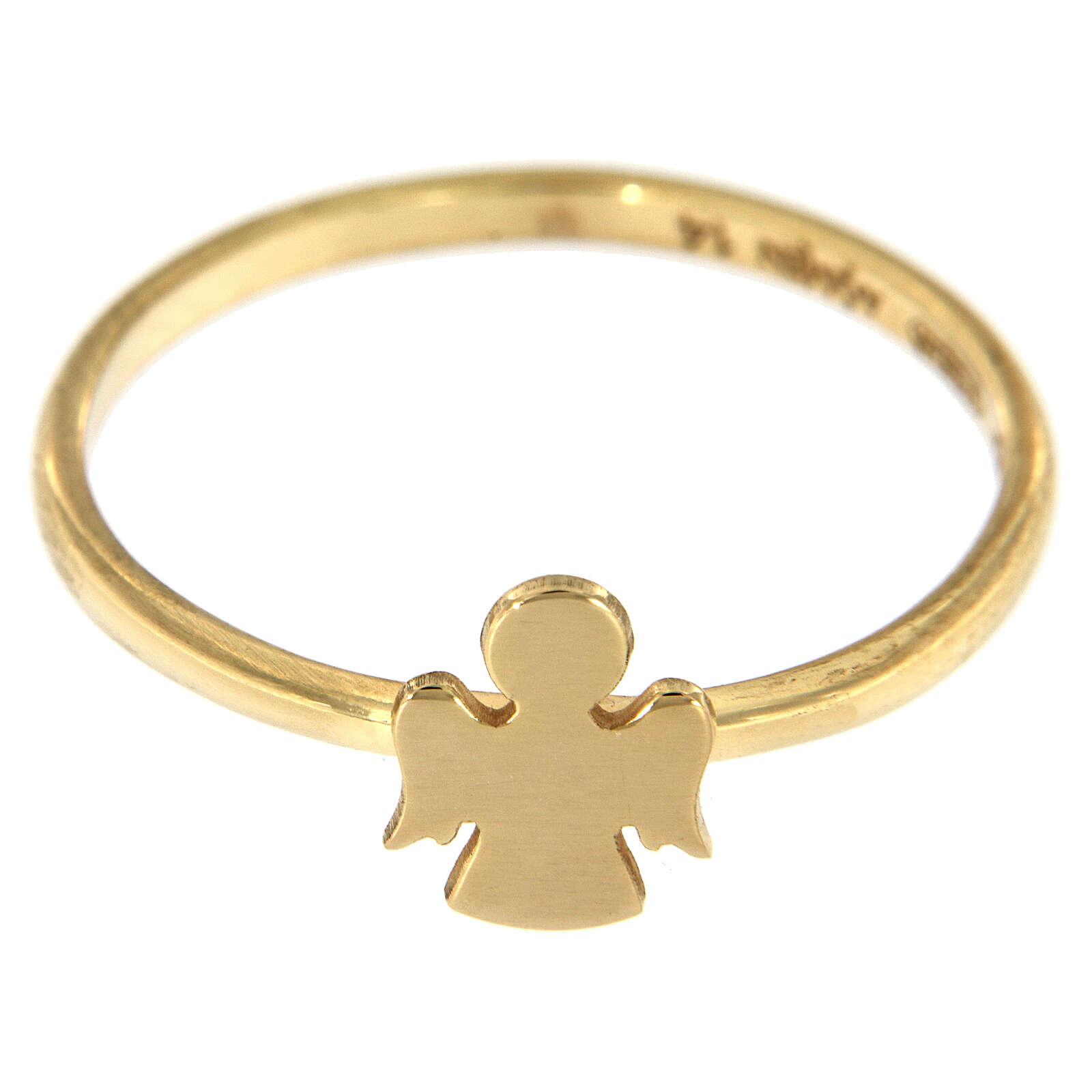 Anello AMEN angioletto argento dorato 925 3