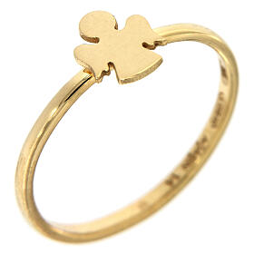 AMEN ring Angel gold plated silver s1