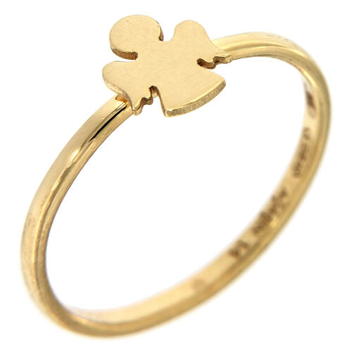 AMEN ring Angel gold plated silver 1