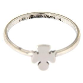 Ring AMEN rodinierten Silber 925 Engelchen s3