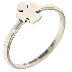 AMEN ring 925 rhodium-plated silver Angel s1