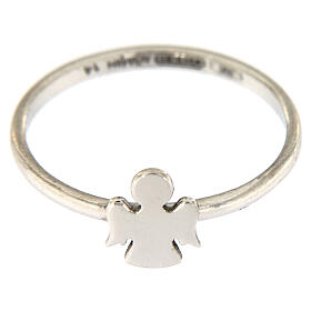AMEN ring 925 rhodium-plated silver Angel s2