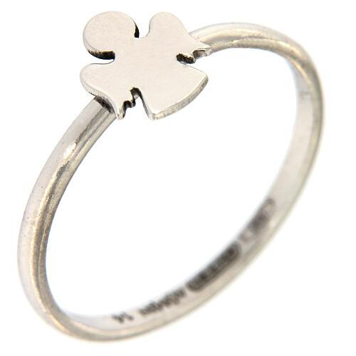 AMEN ring 925 rhodium-plated silver Angel 1